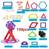 Per 139pcs Magnetic 3D DIY Building Blocks, Mini Magnet Construction Toys, Magnetic Brick Learning Techniques for Creativity Imagination Brain Development