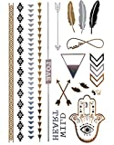 KLIMBIM Bling your Body mit Flash Metallic Tattoos Gold Schmuck Tattoo fŸr Kšrper Finger Arme viele Designs 11