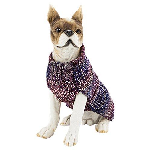 YiJee Kleine Hundchen Kleidung Strickwaren Haustier Hund Weihnachten Gestrickte Pullover Navy S