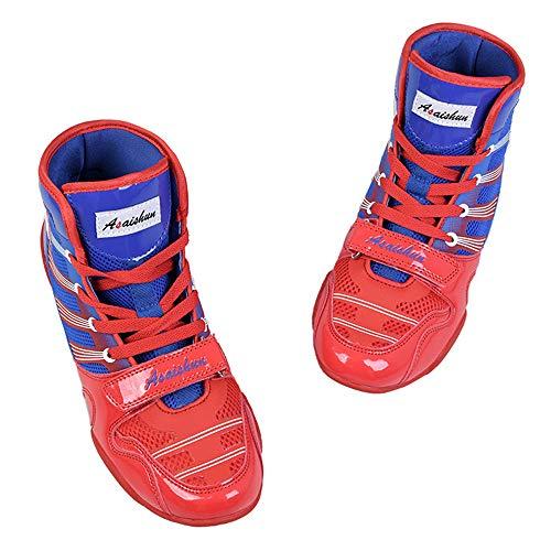 Willsky Botas De Boxeo, Zapatos De Entrenamiento De Lucha Combate Unisex Adultos Profesión Juvenil...