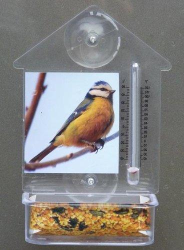 Vogelnapf Fenster-Futterhalter Vogelfutter-Napf Trog