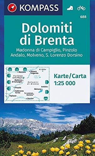 KOMPASS Wanderkarte Dolomiti di Brenta: Wanderkarte mit Radrouten. GPS-genau. 1:25000 (KOMPASS-Wanderkarten, Band 688)