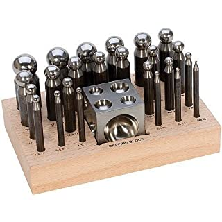 25 pc Doming Block and Punch Set made of Steel Dapping craft metal working tool