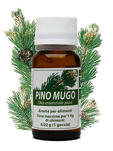 PINO MUGO OLIO ESSENZIALE PURO 10 ml. Bronchite, sinusite, crampi muscolari, dolori reumatici