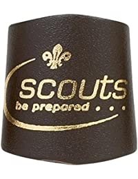 Gold Embossed Leather Scout Woggle - Official Scout Product