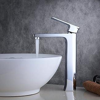 beelee bl6308h lujo de altura contador Top lavabo grifo mezclador cromado moderno cuarto de baño fregadero