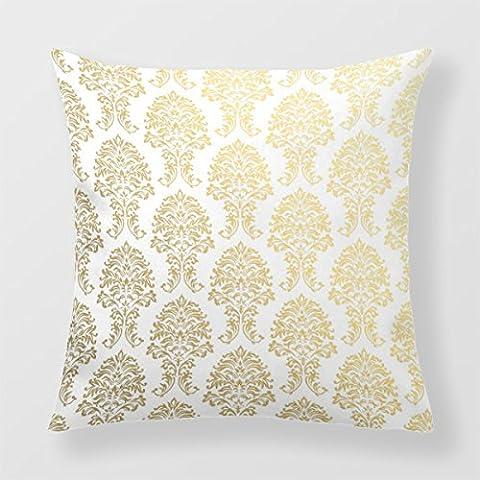 lightinglife decorativo divano cuscino cuscino decorativo con motivo damascato oro, oro damascato damasco modelli modelli federa 16x 16