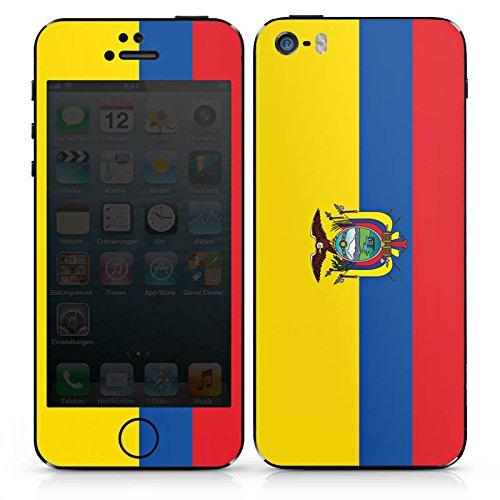 Apple iPhone SE Case Skin Sticker aus Vinyl-Folie Aufkleber Ecuador Flagge Fußball DesignSkins® glänzend