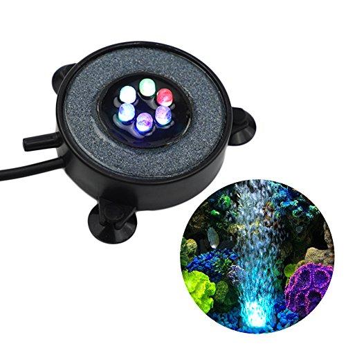 GOOBAT Aquarium Sauerstoff Stein mit LED Beleuchtung, 5.5 cm DIA, 1.2W (Stein Sauerstoff)