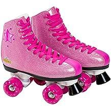 Saica - Patines de bota con cordones, color rosa purpurina, 31 (6990)