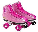 Unbekannt Saica–Rollschuhe Stiefel mit Schnürung, 31, Pink Glitzer (6990)