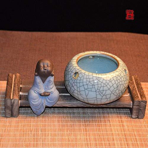 QYSZYG Celadon Cenicero Cenicero cerámica Chino Retro