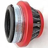 YunShuo 60 mm mini moto Red kN filtre à air pour 49cc minimoto Dirtbike Quad moto dirt