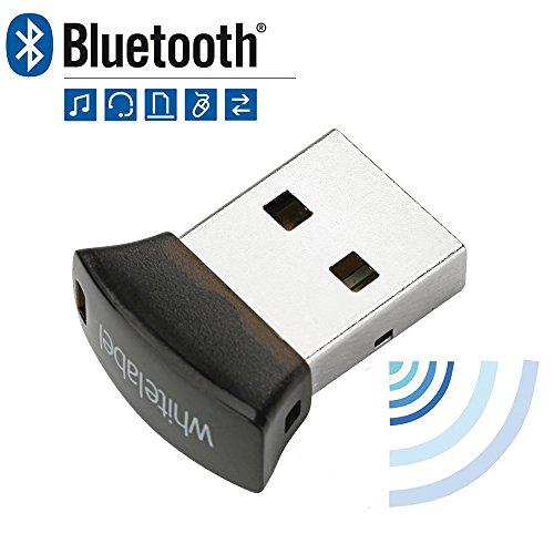 Whitelabel Nano Émetteur et Récepteur Bluetooth 4.0 USB Adaptateur avec Vitesse de Transmission de 3 Mo/s Idéal Pour Système D'exploitation Windows 10 / 8.1 / 8 / 7 / Vista - Compatible avec un Casque Stéréo Bluetooth et D'autres Périphériques Bluetooth (Micro) (Micro)