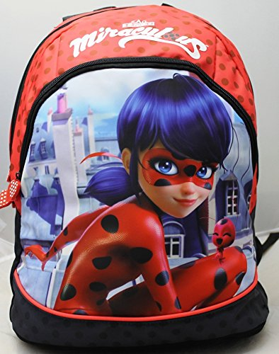 CARTOON WORLD ZAINO Free Time Scuola e Tempo Libero - MIRACULOUS LADYBUG