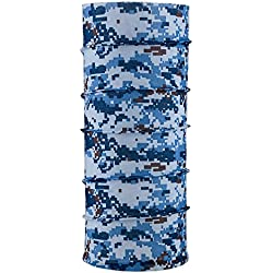 Autofy Unisex Camouflage Printed Lycra Headwrap Bandana for All Bikes (Blue, Freesize)