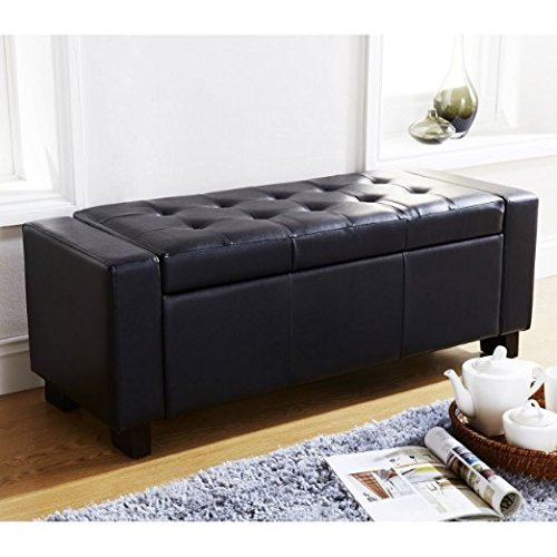 cubed-ottoman-blanket-box-toy-storage-bench-faux-leather-foot-stool-seat-black