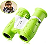 Binocolo per bambini 8 x 21 set - Sgodde HD Vision - shock Proof - confortevole eyepiece- Birdwatching - vera educativo learning- Birthday Gift guide- Best resolution- Outdoor Camp giocattolo, adatto per 3 - 12