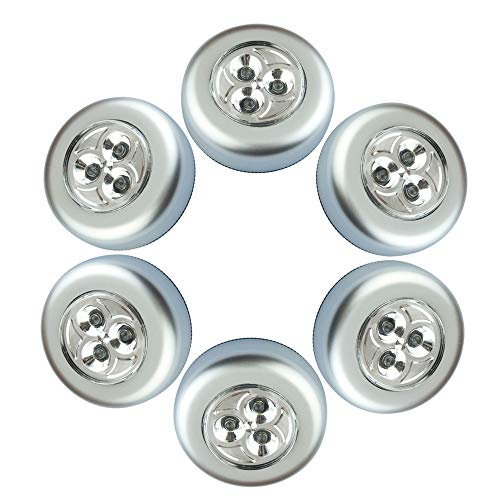 Chao zan 6er-Set Stick&Push LED Touch Lampe Nachtlicht Leuchten Batteriebetrieben selbstklebend Küchenlampen Schrankleuchten