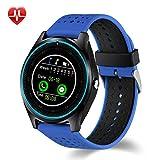 Xwly-Ft V9 Smart Watch Unabhängige SIM-Karte Sport Schritt Kamera HD Photo Call Herzfrequenz-Monitor Bluetooth MP3/MP4 Playback-Informationen Push Android/Ios,Blue3