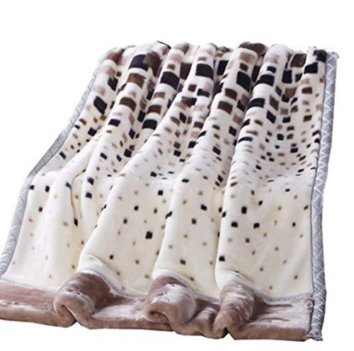 Couvertures Tissu Double Raschel, Matériau De Poids Élevé, Aucune Déformation Et Aucune Décoloration, Épais Et Doux,180 * 220Cm