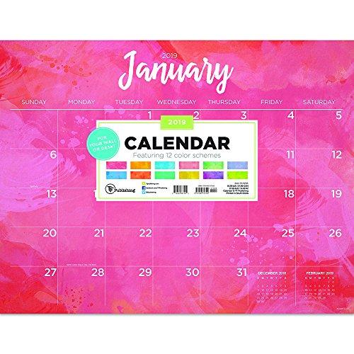 Time Factory acquerello 55,9x 43,2cm gennaio-dicembre 2019Desk Pad Calendar (19-8235)