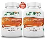 Best Vitamin For Men - Naturyz Calcium Plus with 500mg Elemental Calcium, 400mg Review