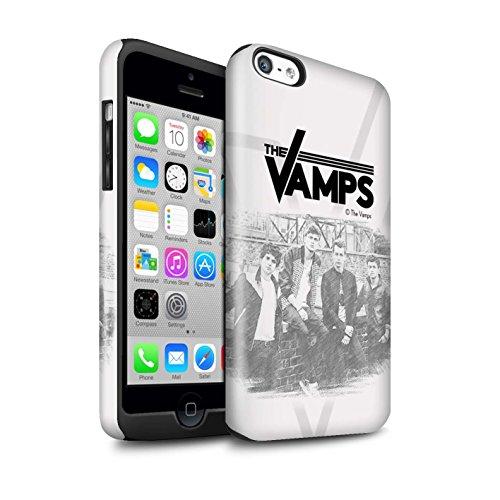 Offiziell The Vamps Hülle / Glanz Harten Stoßfest Case für Apple iPhone 5C / Pack 6pcs Muster / The Vamps Fotoshoot Kollektion Skizzieren