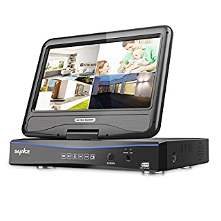 SANNCE CCTV Camera System 4CH 1920*1080P Lite Video Security Recorder Bulit with 10.1