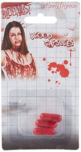 Sachsen Versand 21 Kunst-künstlich-Blut-Kapseln-abwaschbar Fasching Karneval Schminke Halloween-deko Vampir - De Halloween Vampiros