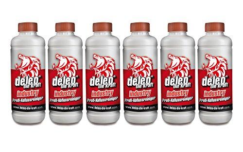Deleo® Industry Abflussreiniger Rohrfrei Rohrreiniger 6x1.000ml (Grundpreis 1,67€/100ml)