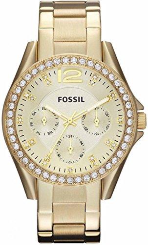 Fossil Riley goldfarbene Damen-Armbanduhr ES3203