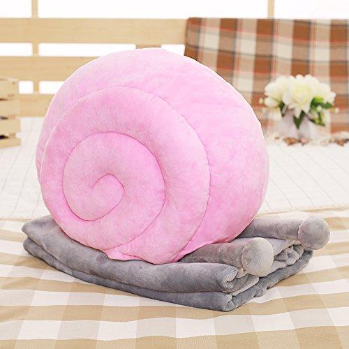 Dessin animé Escargots Modélisation Canapé Coussin Couverture Coussin Multifonction Creative , pink , L