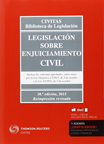 Legislación Sobre Enjuiciamiento Civil (38ª Ed.) 2015 (Biblioteca de Legislación) por Aa.Vv.