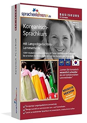 Koreanisch-Basiskurs mit Langzeitgedächtnis-Lernmethode von Sprachenlernen24.de: Lernstufen A1 + A2. Koreanisch lernen für Anfänger. Sprachkurs PC CD-ROM für Windows 8,7,Vista,XP / Linux / Mac OS X