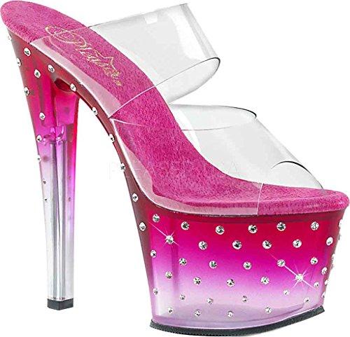 Pleaser Stardust-702t, Mules pour Femme rose bonbon