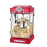 Wandun Popcorn Maschine, Retro Popcorn Maker, 50er Jahre Retro Design 300W Mixer Kurze Aufwärmzeit Edelstahltopf Innenbeleuchtung, Profi Popcornmaschine