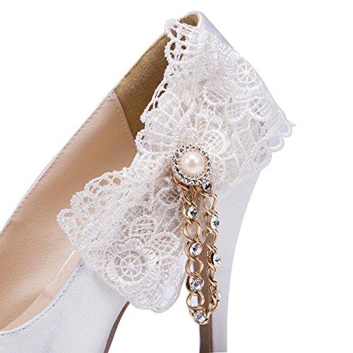De Brancas Moda Kevin Sapatos Forma Casamento Mulheres Da Das q8EExOr