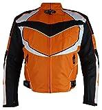 Bangla Sportliche Motorradjacke Biker Jacke Textil Orange kurz XXL