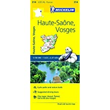 Michelin FRANCE: Haute-Sa??ne, Vosges Map 314 (Maps/Local (Michelin)) by Michelin Travel & Lifestyle (2016-04-07)