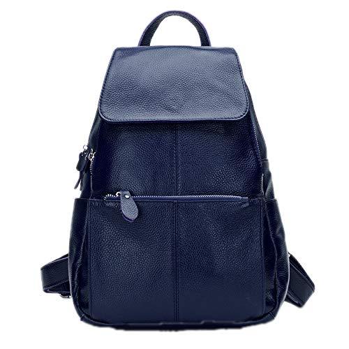 Bagkeena Leder-Rucksäcke für Damen, lässig, Reisen, Rucksack, Laptop-Tasche, Damen, dunkelblau