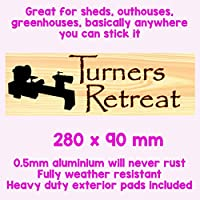 TURNERS RETREAT SIGN, WORKSHOP, WOODTURNING TOOLS, WOOD WORK SHED