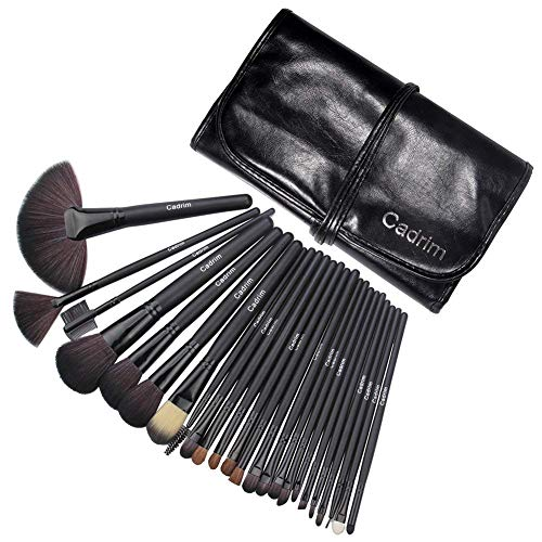 Cadrim 24 teilig Make Up Pinselset Kosmetik Pinsel Lidschattenpinsel Rougepinsel Set mit Tasche -