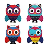 #4: Heartzy Cute Owl Magnetic Bookmark Combo Of 4 Bookmarks Gift For Kids Gift For Girls