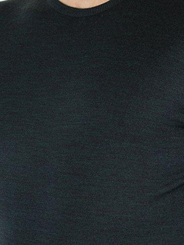 John Smedley Homme Lundy Longsleeved Knit, Vert Vert