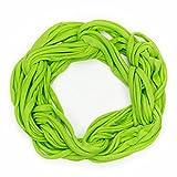 MANUMAR Loop-Schal für Damen einfarbig | feines Hals-Tuch in neonGrün als perfektes Herbst Winter Accessoire | Schlauch-Schal | Damen-Schal | Rund-Schal | Geschenkidee für Frauen und Mädchen