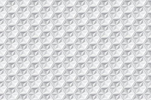 Laroom Alfombra Vinílica Infantil Diseño Origami, Vinilo Antiliscante, Gris, 133x200 cm