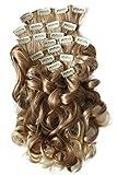 PRETTYSHOP XXL Clip-In-Extensions CONJUNTO de 8 piezas 60cm alargamiento de cabello/postizo resistente al calor CES4a-1