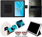 Hülle für Lenovo Tab P10 Tasche Cover Case Bumper | in Schwarz Leder | Testsieger