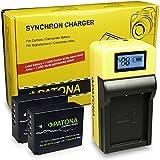 LCD Cargador de Batería + 2x Premium Batería NP-W126 para Fuji FinePix HS30EXR | HS33EXR | HS50EXR | Fuji X-A1 |X-A2 | X-E1 | X-E2 | X-M1 | X-Pro1 | X-T1 | X-T10
